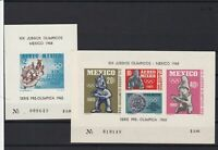 mexico  1965 olympics mint never hinged  stamps sheets ref r12607