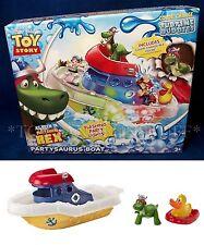 New PARTYSAURUS REX Toy Story COLOR CHANGE SPLASH Tubtime Buddies BOAT Pixar