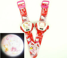 New Hello Kitty Girls Kids Childrens Picture Protector Digital Wrist Band Watch
