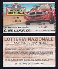 Biglietto Lotteria Nazionale - 30° Rally Valli Ossolane 1994