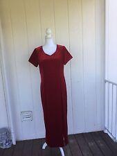 Coldwater Creek, red velvet, dress, women's size 14