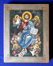 UNIQUE RARE HANDMADE RUSSIAN GREEK ORTHODOX ICON JESUS CHRIST PANTOCRATOR