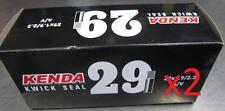 """2x Kenda 29"""" Kwick Seal Self Sealing SCHRADER MTB Tube 29x1.9-2.3"""" 29er S/V A/V"""