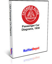 Chicago & Alton Passenger Car Diagrams - PDF on CD - RailfanDepot