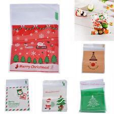 50PCs Christmas Theme Cello Bags Cellophane Cute Candy Cookie Party Bags 15x10cm