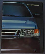 1986 Saab 9000 Catalog Sales Brochure Excellent Original 86