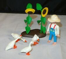 Playmobil 3825 Farm Girl & Geese Set w/ Sunflowers