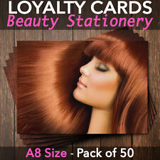 Loyalty Cards Hairdressers Beauty Salons Spa Make Up A8 - Pack of 50