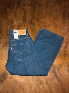 NEW Levi's 550 Boys Relaxed Fit Denim Blue Jeans 28x23