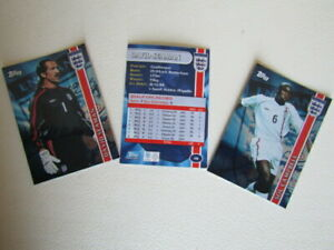 Topps 2002 ~ England Subset Blue Foil Cards Football Card Variants (e19)