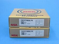 NSK 7207CTYNSULP4  Abec-7 Super Precision Spindle Bearings. Matched Set of Two