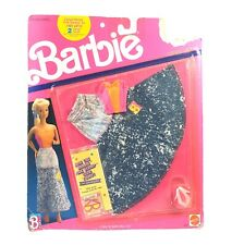 Vintage Barbie Cool Jeans Skirt Outfit W/Shoes 1989