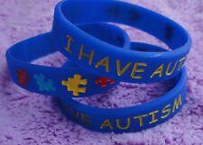 I Have Autism Bracelet (3): Kids, Blue, Medical Alert, Autism Awareness Jewelry