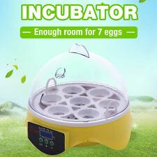 New listing Ac 110V Digital Mini 7Egg Bird Auto Clear Chicken Duck Egg Incubator Hatcher