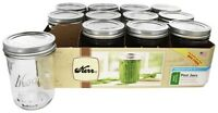 MASON JARS KERR Set Of 12 PINT Wide Mouth (16oz) - Decorating, Projects, Canning