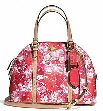 NWT Coach Peyton Floral Cora Domed Satchel Handbag in Pink Multi F 31341 $358