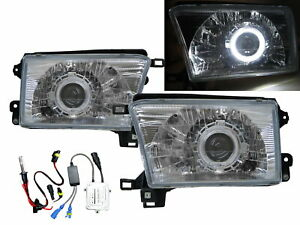Hilux Surf N180 MK3 95-02 5D Guide LED Halo HID Headlight CH V2 for TOYOTA LHD