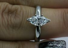14k solid  gold Simulated Marquis Diamond Solitaire  Engagement Ring Free Sizing