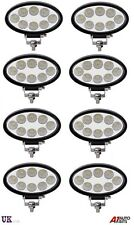8 x 24 W DEL Travail Lumière Ovale Flood Driving Lampe Offroad LIGHT BAR SUV CAMION 4X4