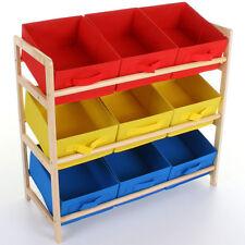enfants Multicolore Niveau 3 stockage 9 BOITE TIROIR - Bleu / rouge/jaune
