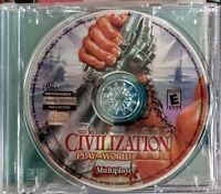 🔥Sid Meiers Civilization III Play the World PC Game CDROM MULTIPLAYER DISC ONLY