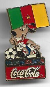 1994 Coca Cola World Cup Soccer Pin Cameroon Flag USA Coke