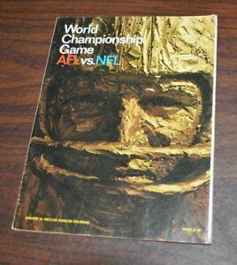 1967 World Championship AFL vs NFL Program Chiefs vs Packers LA Coliseum 1/15