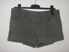 LADIES / GIRLS INFLUENCE BROWN / BLUE STRIPED SHORTS / HOT PANTS. Size 12.