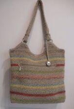 The Sak,Gypsy Belle Stripe, Voyager, Khaki, Sage, Mauve Colors  Sh Tote Handbag