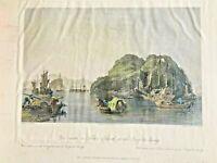 1843 Thomas Allom Steel Engraving of CHINA - Silver island