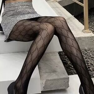 Black G G Tights One Size (Small - medium) Free UK Delivery
