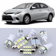 10×Xenon White Interior Light Package Kit for Toyota Corolla 2014-2016