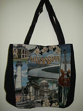 New Mill Street Design Tapestry Canvas Tote Bag Mississippi