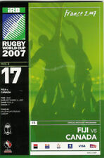 FIJI v CANADA RUGBY WORLD CUP 2007 PROGRAMME