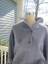 Pretty double breasted sweater in periwinkle blue, Sz S, warm and perfect condit