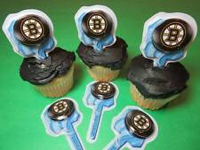 12 Boston Bruins NHL Hockey Cupcake Picks Toppers Decorations Party Favors