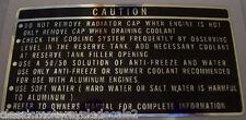 HONDA NS400 NS400R RADIATOR COOLANT CAP CAUTION DECAL