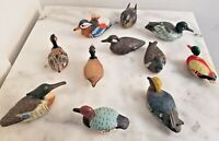 Wood Hand Carved Carter Creek Carvings Ducks Set of 11 Total Free USA Shipping