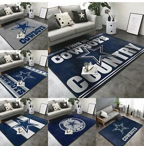 Dallas Cowboys Soft Area Rugs Comfortable Fine Fluffy Flannel Carpet Floor Mat