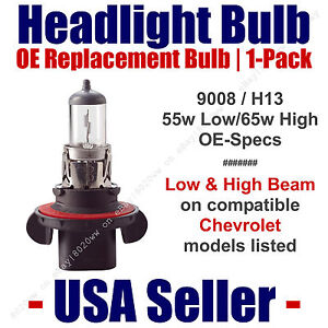 Headlight Bulb High/Low OE Replacement Fits Listed Chevy/Chevrolet Models - 9008
