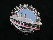 TITANIC 22ct GOLD-PLATED ENAMEL BADGE by the DANBURY MINT WHITE STAR LINE PY12