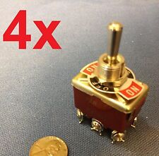 4 Pieces (RED) DPDT momentary switch on/off/on (ON)-OFF-(ON) Centre Off