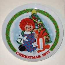 Vintage Raggedy Ann Christmas 1977 Schmid Porcelain Collector's Plate!