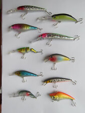 Pêche carnassiers, sélection de 10 poissons-nageurs différents