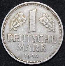 1950 F | Germany 1 Mark | Cupro-Nickel | Coins | KM Coins
