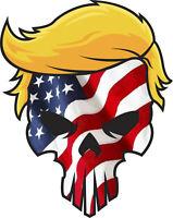 Trump 2020 Punisher Political USA Flag Laminated Vinyl Bumper Sticker Decal