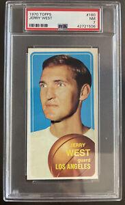 1970 Topps, #160, HOF Jerry West, Los Angeles Lakers PSA 7 NM, BEAUTY!!!