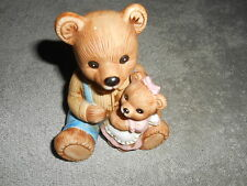 Vintage - Homco - Porcelain Daddy Bear with Little Girl Bear #1444
