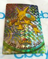 Vintage 90s Alakazam STICKER TV Animation Edition TOPPS HOLO RARE Pokemon Card