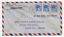 1954 CANADA Air Mail Cover TORONTO To LONDON Commercial RITCHIE Slogan SG473